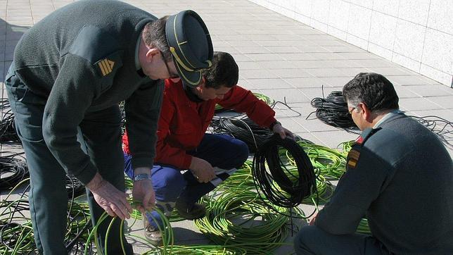 Casi cincuenta detenidos por la Guardia Civil por sustraer cobre