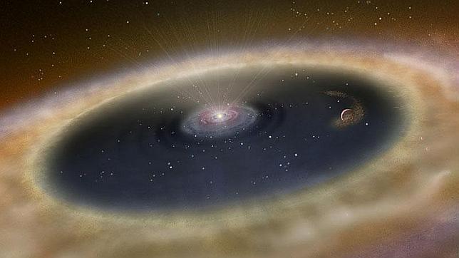 Primera fotografía de la formación de un planeta