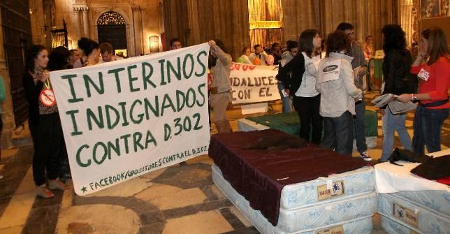 Profesores interinos protestarán en actos electorales del PSOE