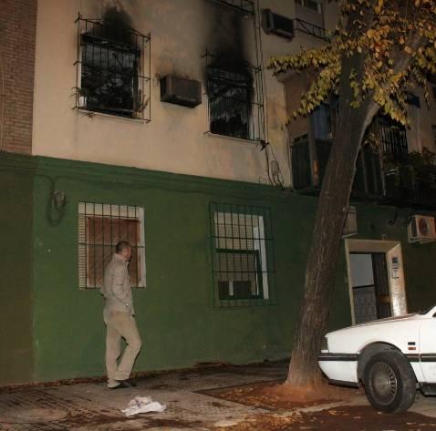 Herida con quemaduras por un incendio en San Juan de la Cruz