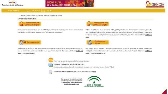Ya es posible pagar multas y recibos a trav s de la red for Oficina virtual de la agencia tributaria
