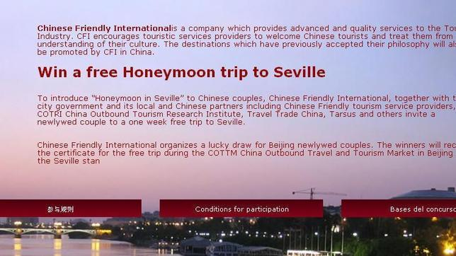 «Chinese Friendly» busca convertir a Sevilla en destino de luna de miel