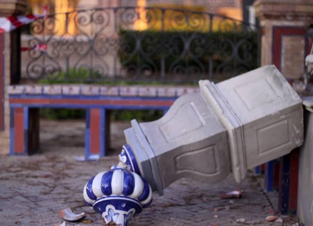 Reparar los daños en el Parque de María Luisa costará 44.000 euros