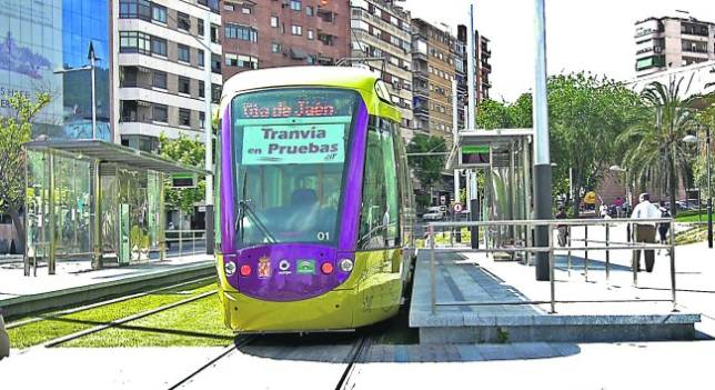 Tranvía de Jaén en pruebas