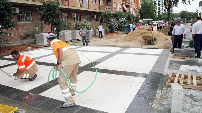 Reparar la plaza Ignacio Gómez Millán, un compromiso de campaña cumplido