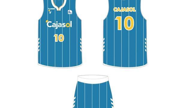 7573b4b417ef9 La equipación azul vuelve como primera indumentaria. cajasol. Baloncesto