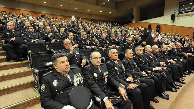 Un momento del acto del Día de la Policía Nacional
