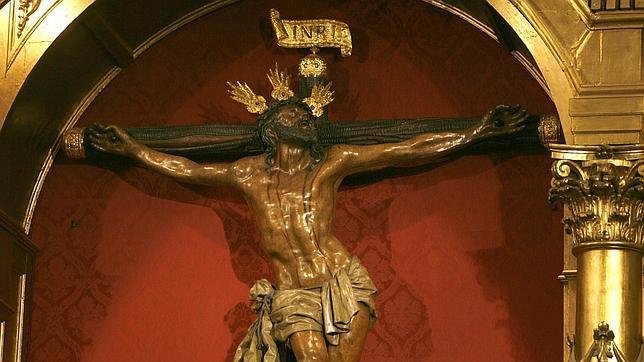Cristo de la Expiración del Museo en su paso
