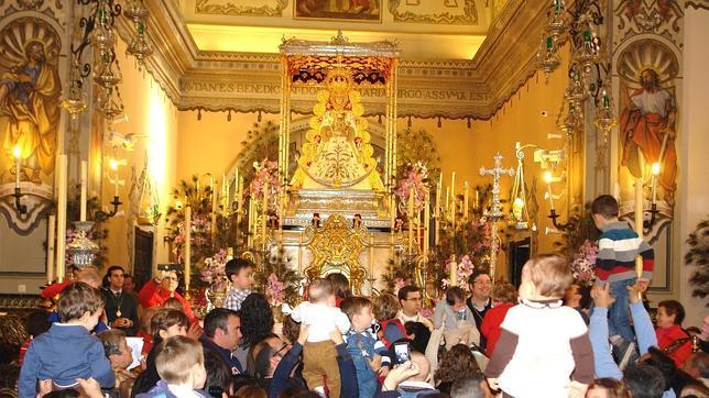 Presentacion ante la Virgen del Rocio