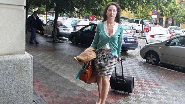 Mercedes Alaya, a su llegada a los juzgados sevillanos el pasado martes, tras seis meses de baja