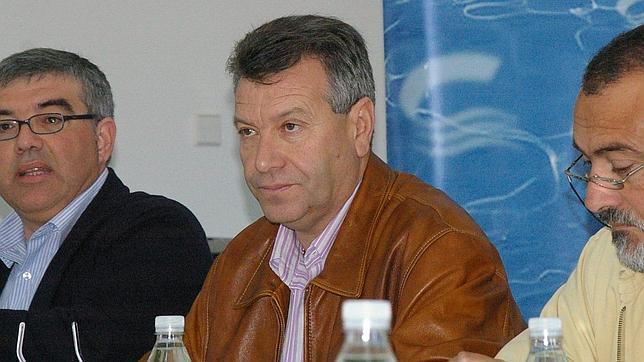 Custodio Moreno, en el centro de la imagen