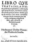 Nicolás Monardes, el médico sevillano que investigó las plantas del Nuevo Mundo