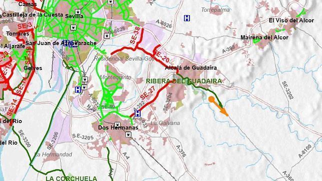 Un carril bici de 6,3 kilómetros unirá Dos Hermanas con Alcalá