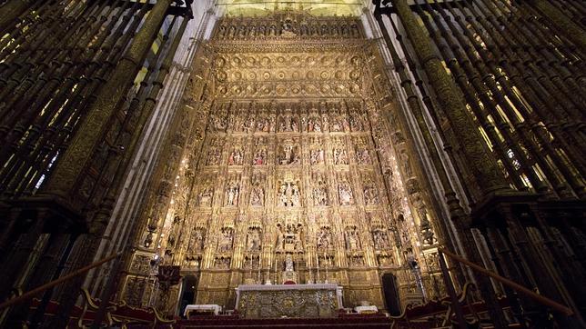 El altar mayor de la Catedral, mencionado por Cernuda en «Ocnos»