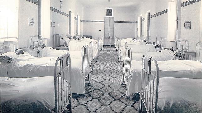 Una antigua habitación del Hospital Cruz Roja de Capuchinos