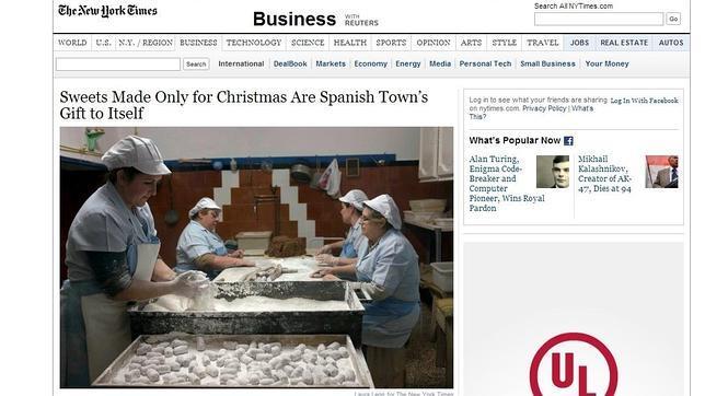Los mantecados de Estepa protagonistas de un reportaje en New York Times