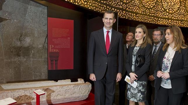 Los Príncipes de Asturias, junto a la presidenta de la Junta, Susana Díaz