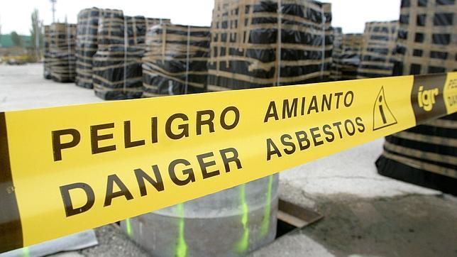 Zona con residuos de amianto