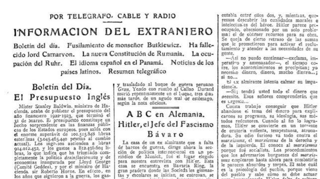 El día en que ABC entrevistó a Hitler - publicado por el blog 2GM - marzo de 2014 Hitler-abc--644x362