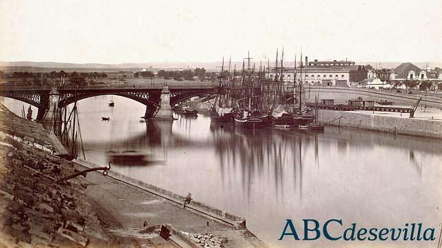 Colección gráfica de ABC: veleros atracados en el muelle de la Sal