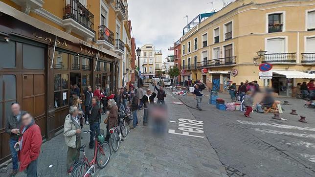 Google maps oculta el calvo de la calle feria tras la - El tiempo en dos hermanas sevilla por horas ...