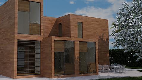 Casas hechas de contenedores maritimos precios transportes de paneles de madera - Casas prefabricadas de contenedores ...