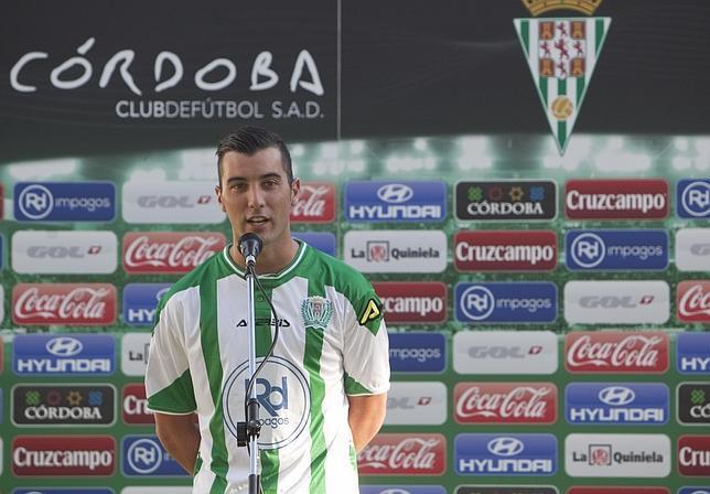 Borja García«Vengo a cumplir  el sueño de jugar en Primera con el Córdoba»
