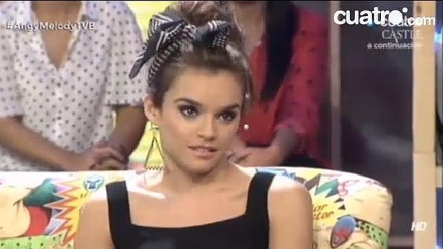 Melody en un momento de la entrevista en el programa «Todo va bien»