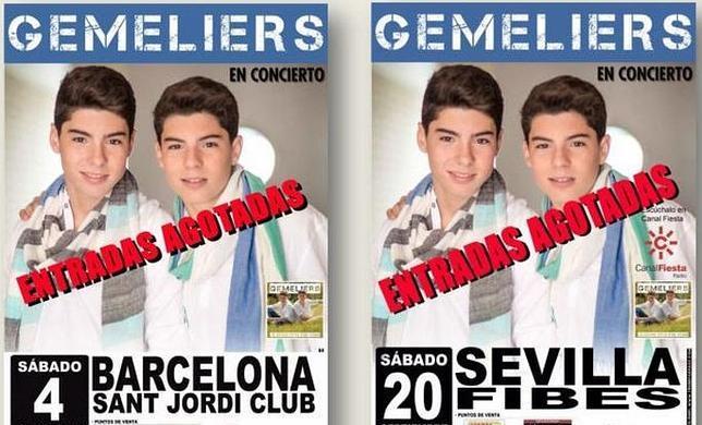 El dúo «Gemeliers» llenarán el Sant Jordi Club de Barcelona y Fibes, en Sevilla