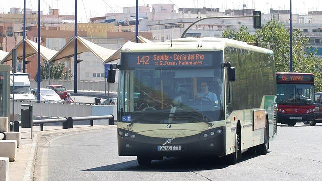 Un autobús metropolitano llega a la zona de Chapina