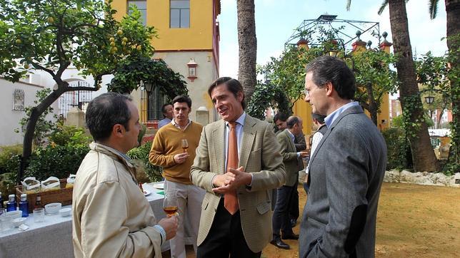 Dávila Miura durante el anuncio de su reaparición en la Real Venta de Antequera