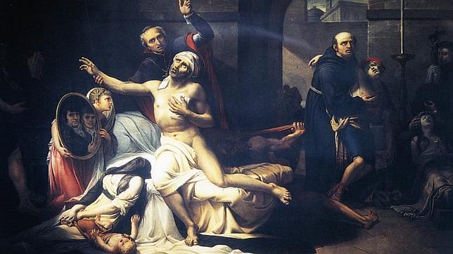 Pintura de José Aparicio que escenifica el efecto de la fiebre amarilla a principios del siglo XIX