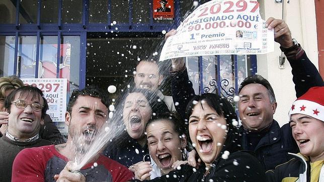 Agraciados con el premio Gordo en Santiponce en 2006