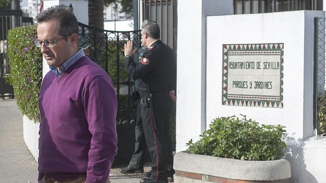 El director de Medio Ambiente, Joaquín Peña, el día de su imputación