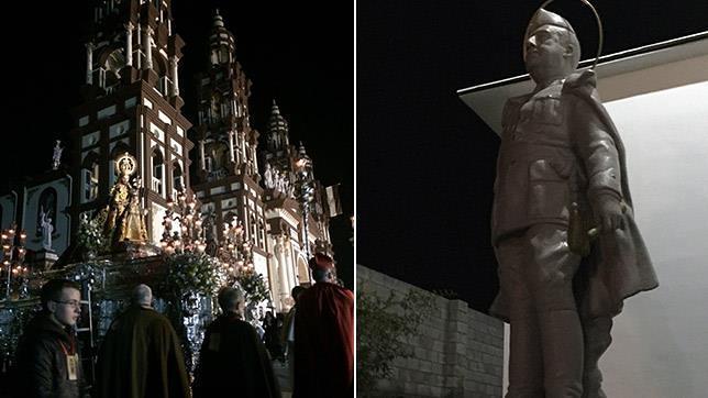San José del Palmar y la estatua de Franco