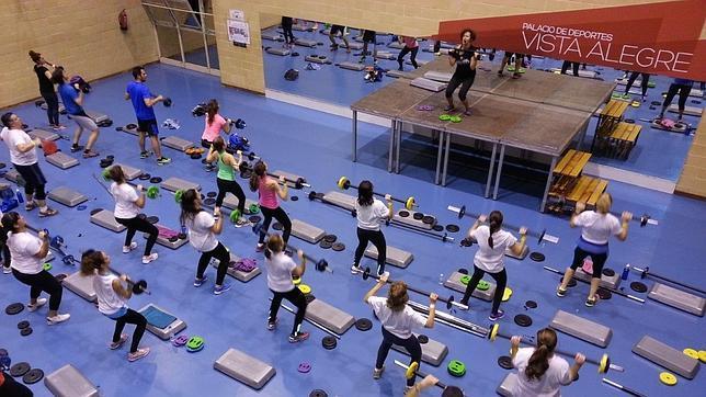 Una de las salas de fitness en el pabellón deportivo municipal Vista Alegre