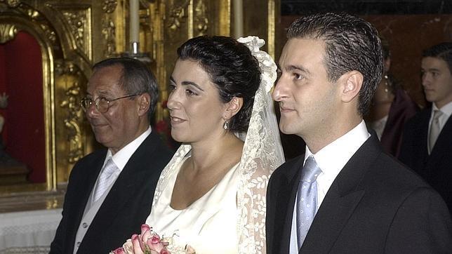 Susana Díaz y José María Moriche el día de su boda