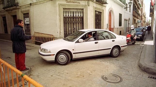 Un aparcacoches en el centro de Sevilla