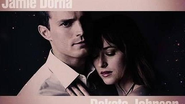 Cartel promocional de la película «Cincuenta sombras de Grey»