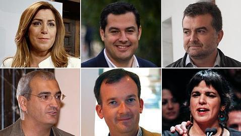 Así son los candidatos a las elecciones en Andalucía