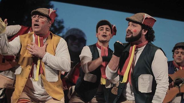 Completa actuación de la comparsa de Córdoba «Adiós mi España querida»