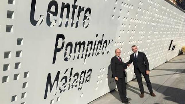 El alcalde Francisco de la Torre y Alain Seban, presidente del Pompidou parisino