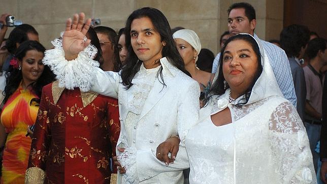 Pilar Montoya, el día de la boda de su sobrino Farruquito