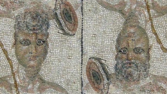 Resultado de imagen de mosaico de las dos caras ecija