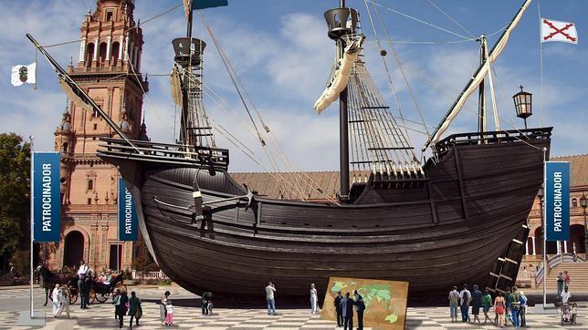 Una réplica de la nao Victoria se expondrá en la Plaza de España en 2016