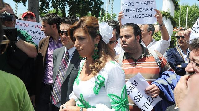 En 2010, Susana Díaz medió en la huelga de Tussam en plena Feria