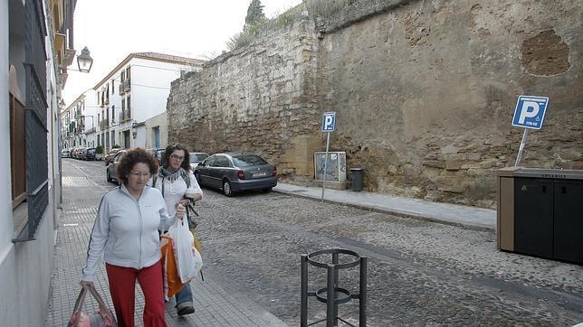 Muro de la Misericordia próximo al cual se levantaba el desaparecido hospital en el que murió la religiosa