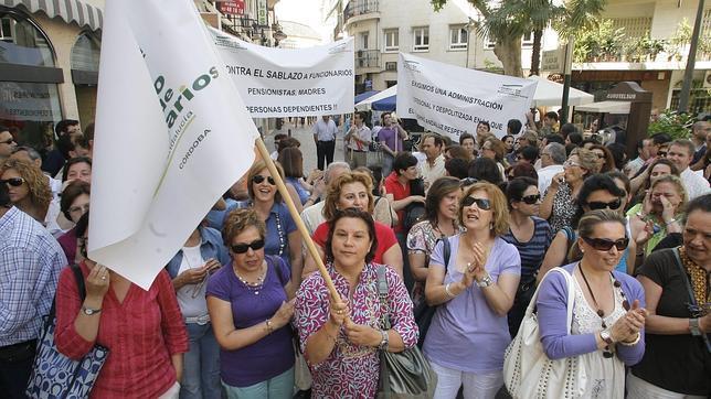 Manifestación de funcionarios de la Junta