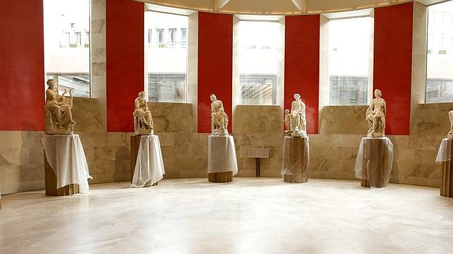 Estatuas de las musas en el Museo del Prado