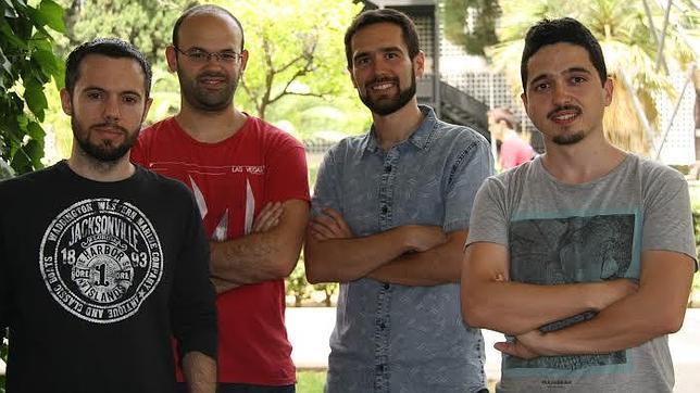 Félix Pérez, Eduardo Brioso, Juan Quirós y Adrián Ruiz, creadores de la plataforma on line «Crowdence»